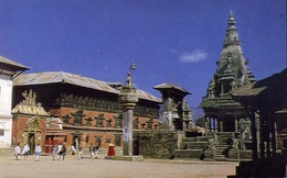 Bhaktapur Durbar Square - Kathmandu - Nepal - Formato Grande Non Viaggiata – E 9 - Nepal