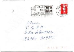 LOT - Dépt N° 46 = CAHORS 1995 = FLAMME Type II = SECAP  Illustrée Du PONT Valentré ' VILLE ' - Postmark Collection (Covers)
