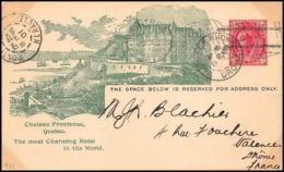 3241/ Canada Entier Stationery Carte Postale (postcard) 1901 Pour Valence Drome France - 1903-1954 Kings