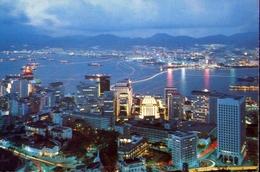 Hong Kong - By Night - Formato Grande Viaggiata – E 9 - Cina (Hong Kong)