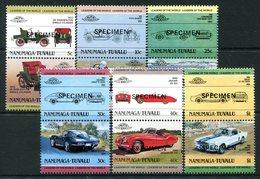 Tuvalu - Nanumaga 1984 Cars - 1st Issue - SPECIMEN - Set MNH - Tuvalu