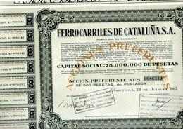 Papel Incompleto Ferrocarriles De Cataluña. - España