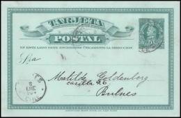3904/ Chili (chile) Entier Stationery Carte Postale (postcard) N°24 Pour Bulnes 1904 - Chile