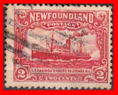 "CANADA ISLA DE TERRANOVA SELLO AÑO 1928 STEAMSHIP ""CARIBOU"" — 2 CENTS - 1911-1935 Reinado De George V"