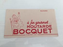 Buvard Ancien MOUTARDE BOCQUET YVETOT - Mostard