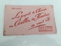 Buvard Ancien CHICORÉE CARILLON DES FLANDRES VILAIN FRÈRES BOURBOURG - Café & Thé