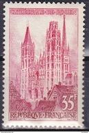 Timbre-poste Gommé Neuf** - Série Touristique Cathédrale De Rouen - N° 1129 (Yvert) - France 1957 - France