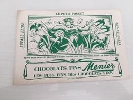 Buvard Ancien CHOCOLAT MENIER LE PETIT POUCET - Chocolat
