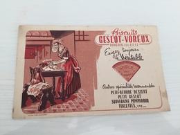 Buvard Ancien BISCUITS GESLIT VOREUX RONCHIN LES LILLE SABLÉ DES FLANDRES - Sucreries & Gâteaux