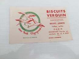 Buvard Ancien BISCUITS VERQUIN AUX TROIS CIGOGNES NEUVILLE EN FERRAIN - Sucreries & Gâteaux
