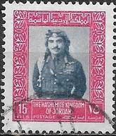 JORDAN 1975 King Hussein - 15f - Blue And Pink FU - Jordan