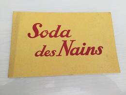 Buvard AncIen SODA DES NAINS - Limonadas - Refrescos
