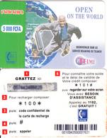 BURKINA FASO - Open On The World, Telemob By Onatel Prepaid Card 5000 FCFA(*100*), No Exp.date, Used - Burkina Faso