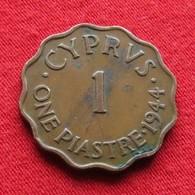 Cyprus 1 Piastre 1944 KM# 23a Chipre Zypern - Chypre