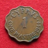 Cyprus 1 Piastre 1944 KM# 23a Chipre Zypern - Cyprus