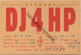 QSL - Funkkarte - DJ4HP - Viersen - 1959 - Amateurfunk