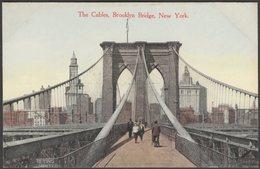 The Cables, Brooklyn Bridge, New York City, C.1910s - Success Postal Card Co Postcard - Brooklyn
