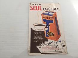Buvard Ancien CAFÉ TOTAL RAVERDY - Café & Thé