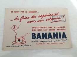 Buvard Ancien CHOCOLAT BANANIA - Chocolat