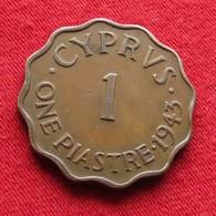 Cyprus 1 Piastre 1943 KM# 23a Chipre Zypern - Chypre