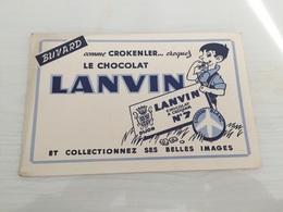 Buvard Ancien CHOCOLAT LANVIN L'OISEAU BLANC - Chocolat
