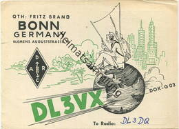 QSL - Funkkarte DL3VX - Bonn - 1963 - Amateurfunk
