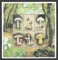 A701 TANZANIA FLORA NATURE MUSHROOMS OF THE WORLD 1KB MNH - Mushrooms