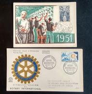 PREMIER JOUR ROTARY DE 1955 ET JOURNÉE DU TIMBRE 1951 - 1960-1969