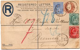 GB 1902: 2 1/2 D + 1/2 D And 1 D EVII On Station. R-envelope Of 1902, S. Scan, Used In May 1904 - Covers & Documents