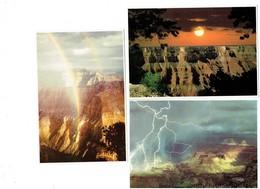Lot 4 Cpm - Grand Canyon - ARIZONA - Rainbow Lightning Sunset Point - Coucher De Soleil Foudre Orage Arc En Ciel - Etats-Unis