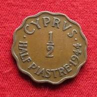 Cyprus 1/2 Piastre 1944 KM# 22a *V2 Chipre Chypre Cipro Zypern - Chypre