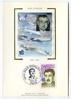RC 10864 FRANCE CARTE MAXIMUM 1990 MAX HYMANS AVIATION AIR FRANCE FDC SUR SOIE TB - Airplanes