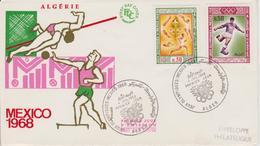 FDC  ALGERIE  JEUX OLYMPIQUES DE MEXICO 1968 - Summer 1968: Mexico City