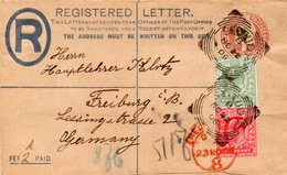 GB 1902/04: 1/2 D And 1 D EVII On Station. R-envelope Of 1902, S. Scan, Used In Nov. 1906 - Covers & Documents