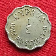 Cyprus 1/2 Half Piastre 1938 KM# 22 Chipre Chypre Cipro Zypern - Cyprus