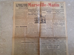 Marseille Matin 1942 1 Page - Wechmacht Rjev, Sous Marin - Journaux - Quotidiens