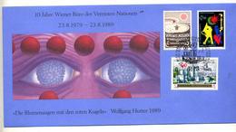 Lettre Fdc 1989 Wien 10 Ans - FDC