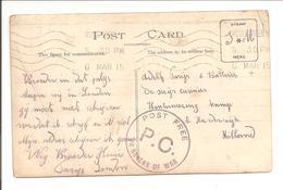 London-WOODGREEN 6.3.15 Vers Int. Kamp Harderwijk.POW-Censure-Zensur. Real Photo Card - WW I