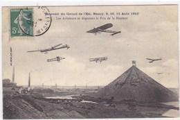 Souvenir Du Circuit De L'Est, Nancy, 9, 10, 11 Août 1910 - Les Aviateurs Se Disputant Le Prix De La Hauteur - Avions