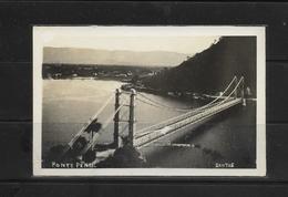O) BRAZIL, OLD POSTAL CARD, SUSPENSION BRIDGE  OF WOODEN, CITY SANTOS PRAIA GRANDE-FROM 1914, POSTAL CARD UNUSED - Altri