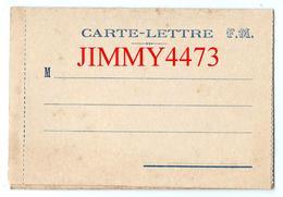 CPA - CARTE LETTRE F. M. ( Double Volets )- Scans Recto-Verso - Guerre 1914-18