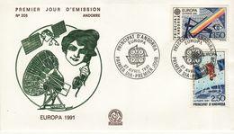 FRENCH  ANDORRA  1991 EUROPA CEPT   FDC - Europa-CEPT