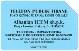 ALBANIA A-049 Magnetic Telekomi - Used - Albania