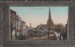 Bull Ring, Birmingham, Warwickshire, 1913 - Valentine's Postcard - Birmingham