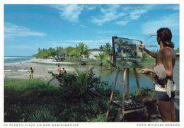 1 AK Costa Rica * Strandansicht Bei Dem Kleinen Küstenort Puerto Viejo * - Costa Rica