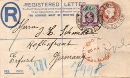 GB 1902: 1 1/2 D De La Rue On R-envelope Of 1902, Used In Nov. 1902 - Covers & Documents