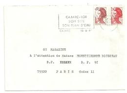 LOT - Dépt N° 46 = CAJARC 1985 = FLAMME Type II = SECAP  'SON SITE / SON PLAN D' EAU' - Postmark Collection (Covers)