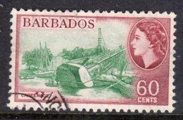 BARBADOS - 1953-61 1956 60c DEFINITIVE STAMP FINE USED SG 299 - Barbados (...-1966)