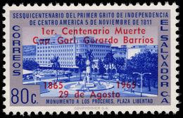 El Salvador 1965 General Barrios Error GARL. For GRAL Unmounted Mint. - El Salvador
