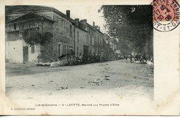 167. CPA 47 LAFITTE. MARCHE AUX PRUNES D'ENTE 1906 - Autres Communes